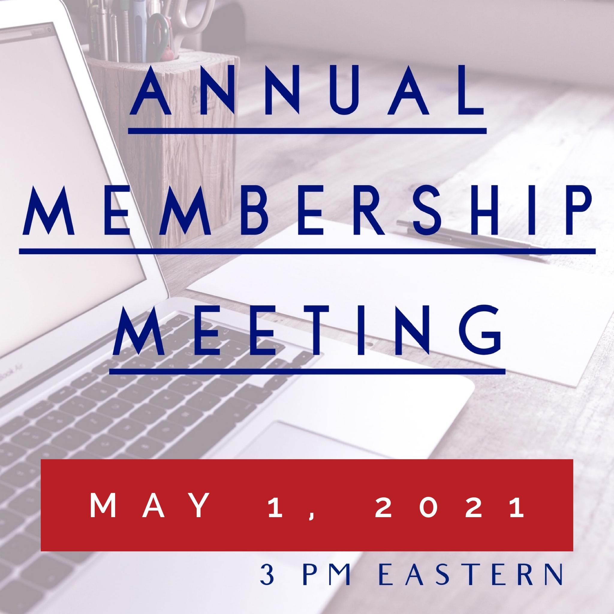 2021 Annual Membership Meeting
